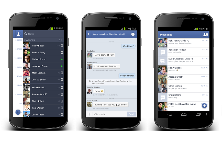 facebook messenger obligatoire