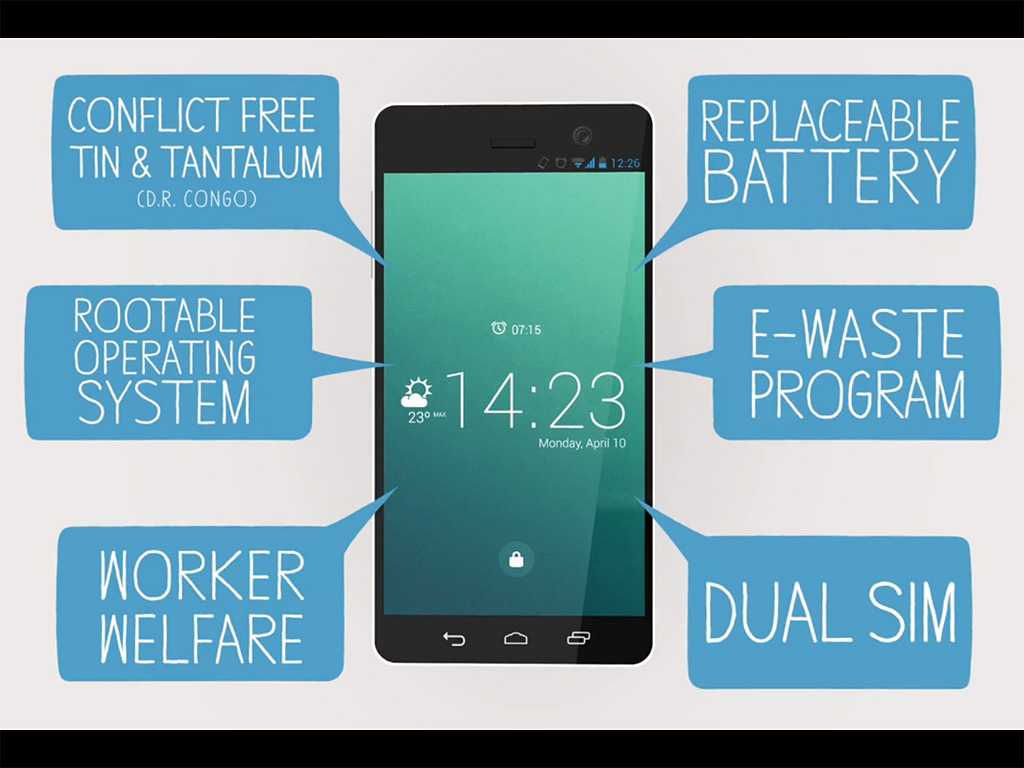 fairphone fiche technique