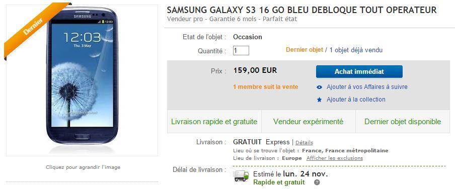 Galaxy S3 ebay