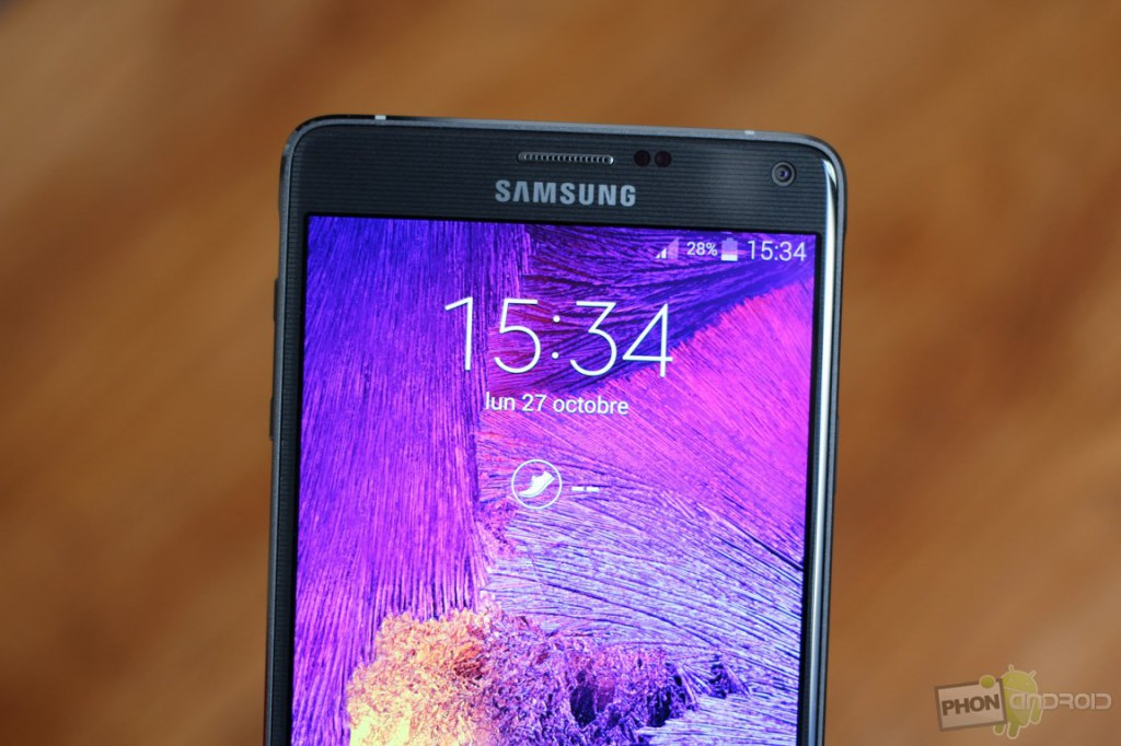 galaxy note 4 ecran precision