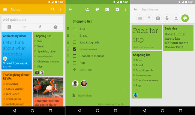 google keep outils partage