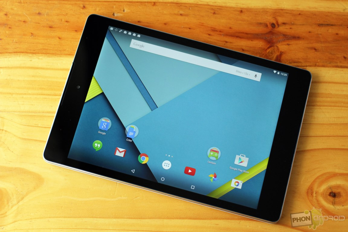 google nexus 9 test