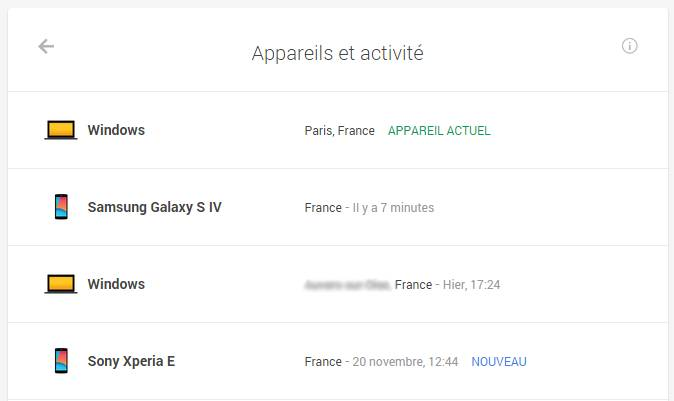 Google Outil Scurit Screen