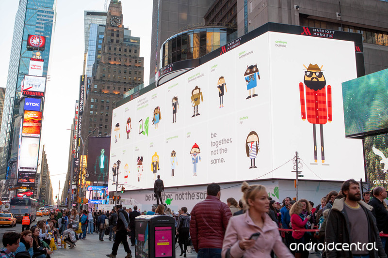 google times square campagne pub android