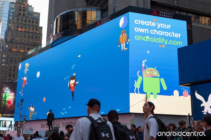 Google fait sa pub pour android sur le plus grand cran du for Photo ecran times square