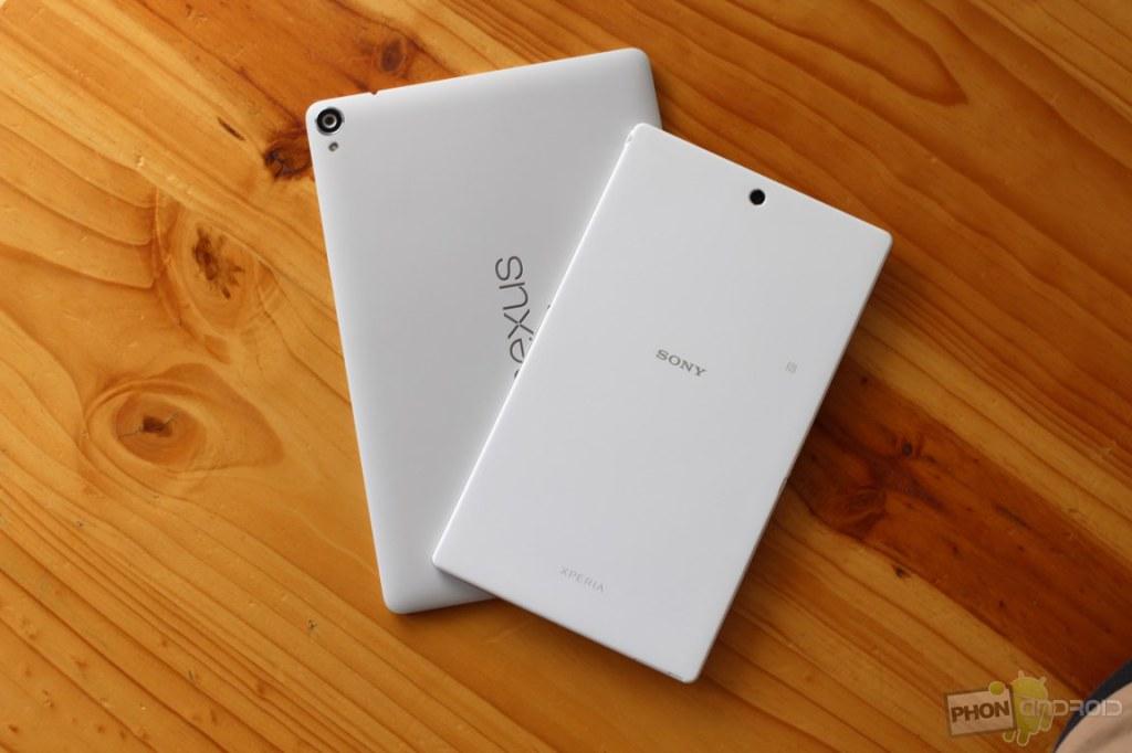 htc nexus 9 vs sony xperia z3 tablet compact