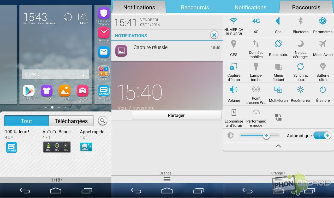 Huawei Honor 6 notifications