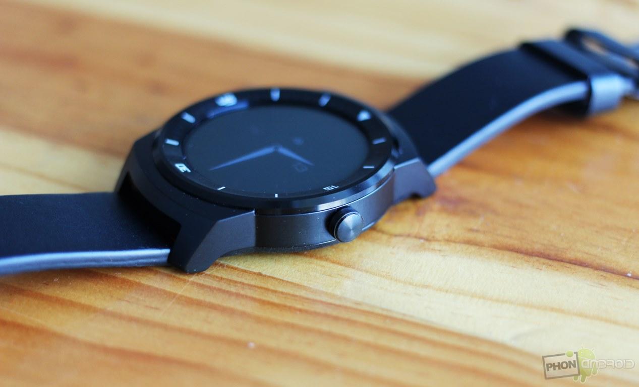 lg g watch r bouton