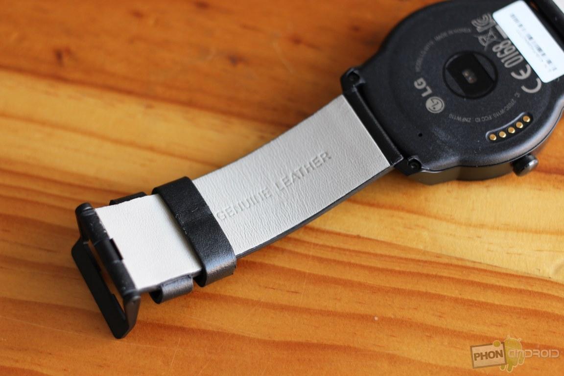 lg g watch r bracelet cuir