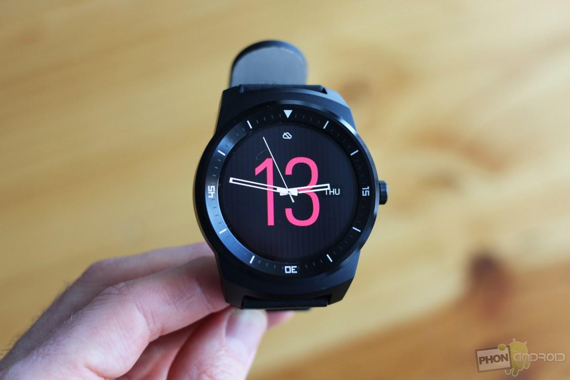 lg g watch r changer horloge