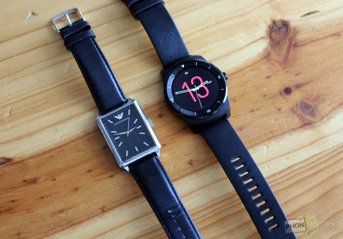 lg g watch r comparatif