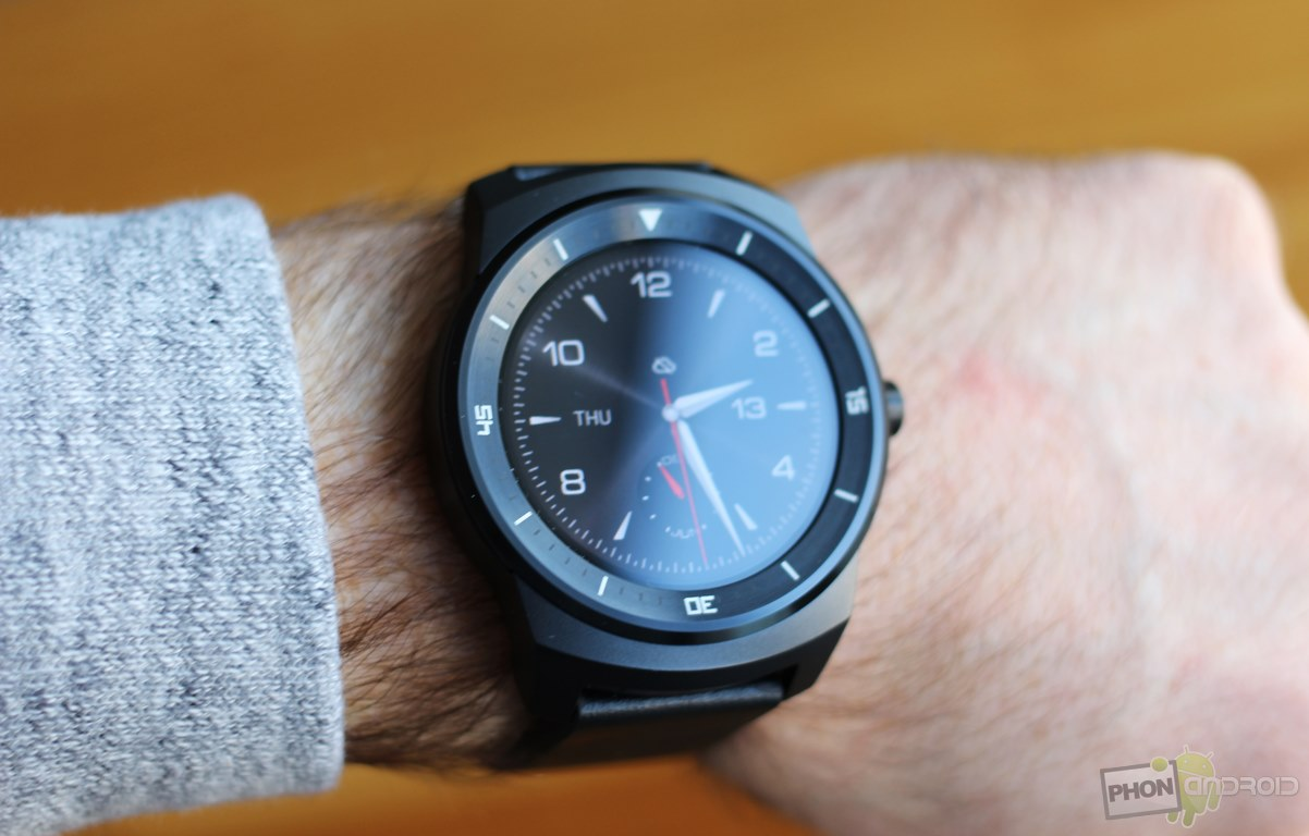 lg g watch r luminosite ecran