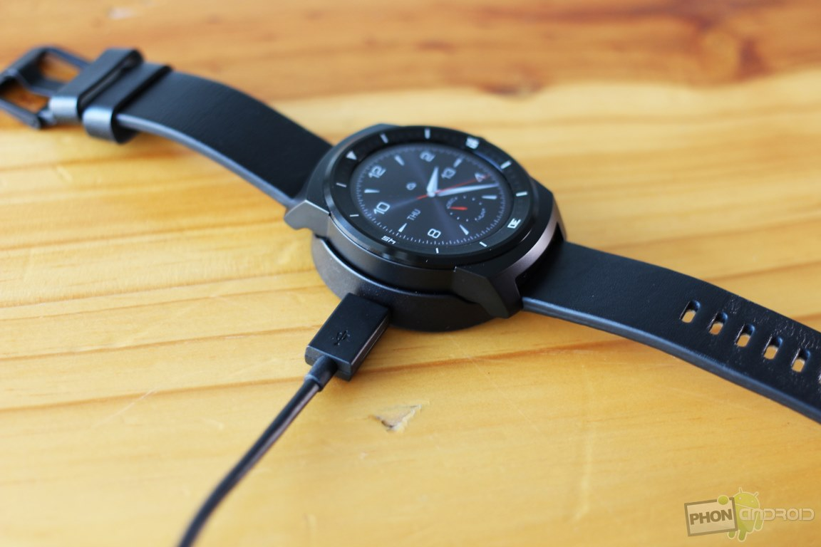 lg g watch r rechargement