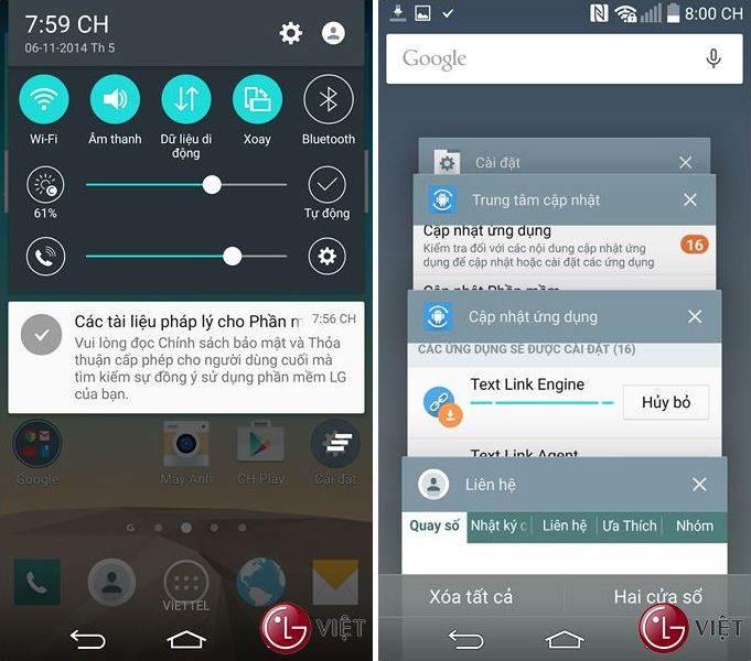 LG G3 mise à jour Android 5.0 Lollipop