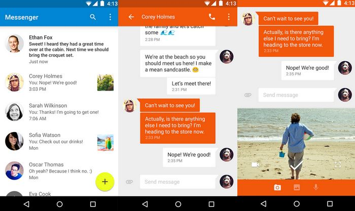 application Messenger Android Lollipop