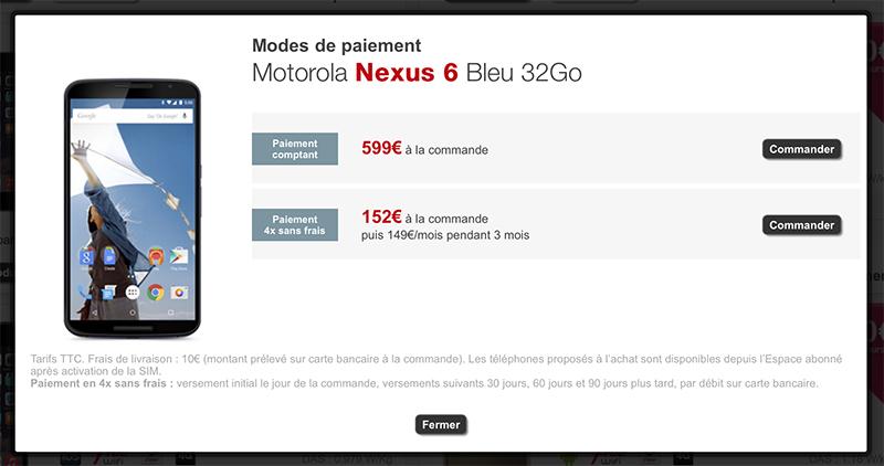 nexus 6 free 499 euros
