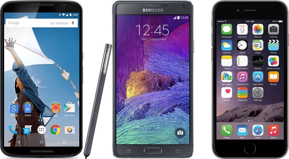 Nexus 6 vs Galaxy Note 4 vs iPhone 6 Plus