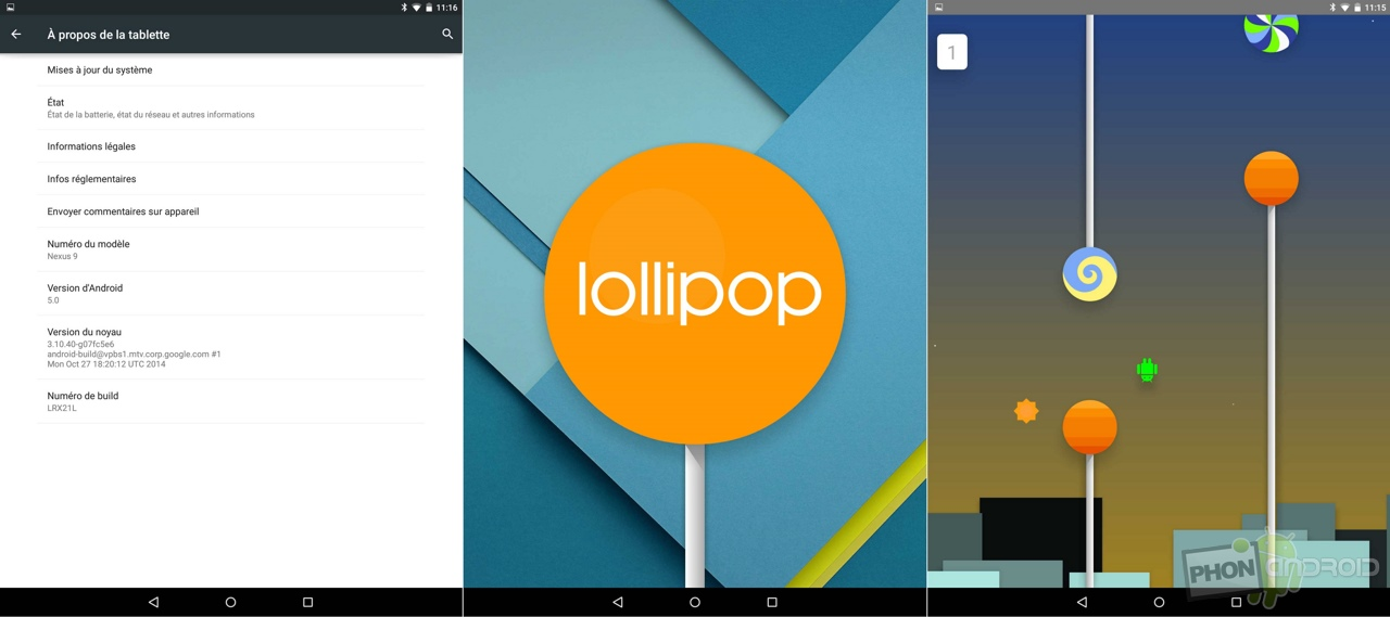 nexus 9 android 5 lollipop