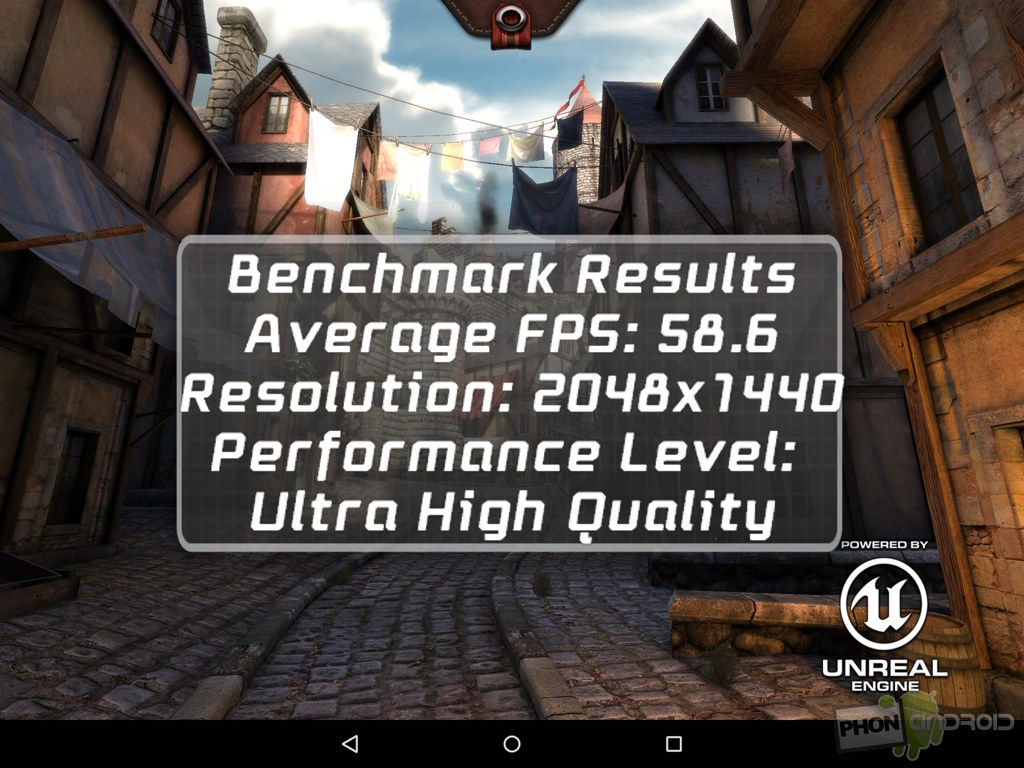 nexus 9 benchmark epic citadel