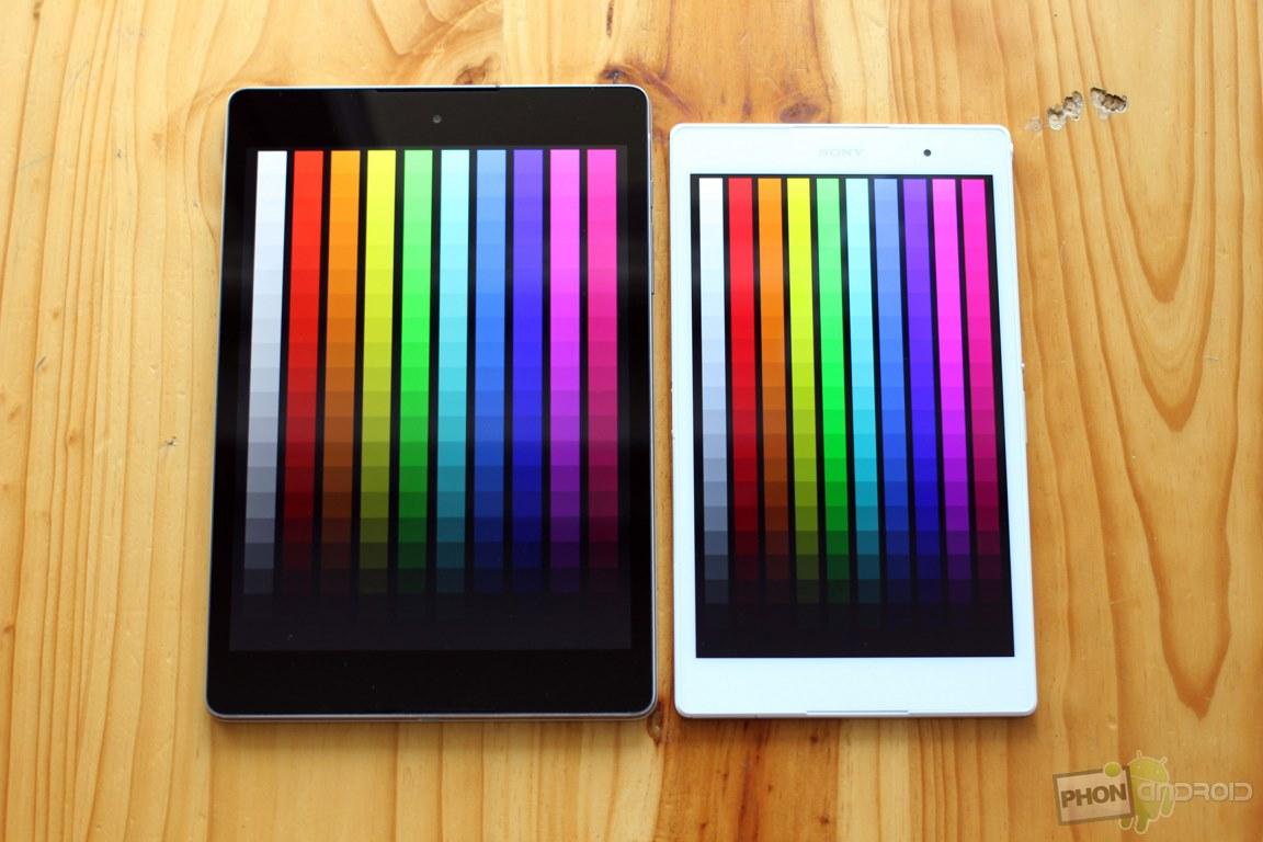 nexus 9 couleurs ecran