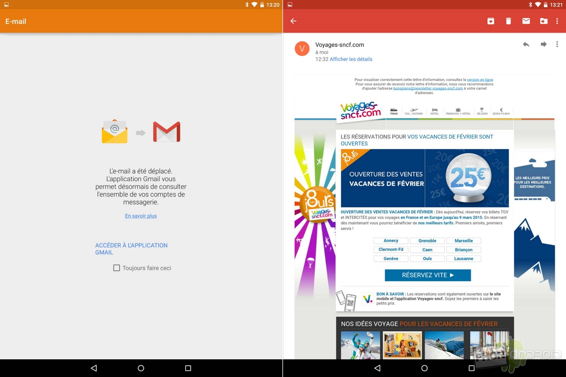nexus 9 email