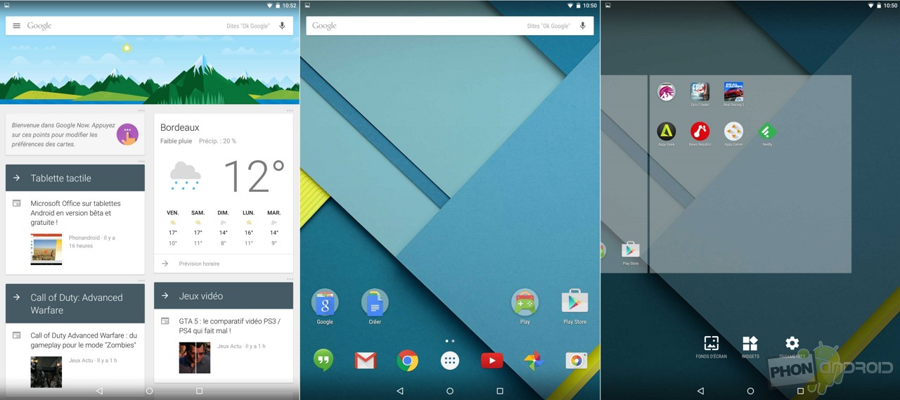 nexus 9 interface