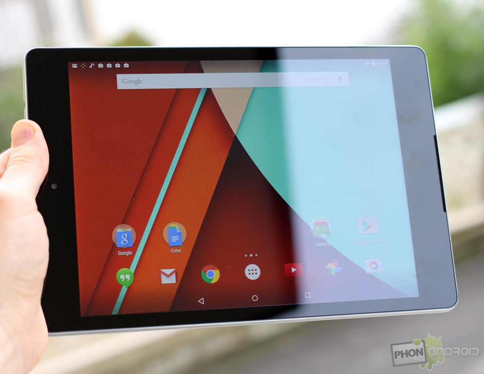 nexus 9 luminosite ecran