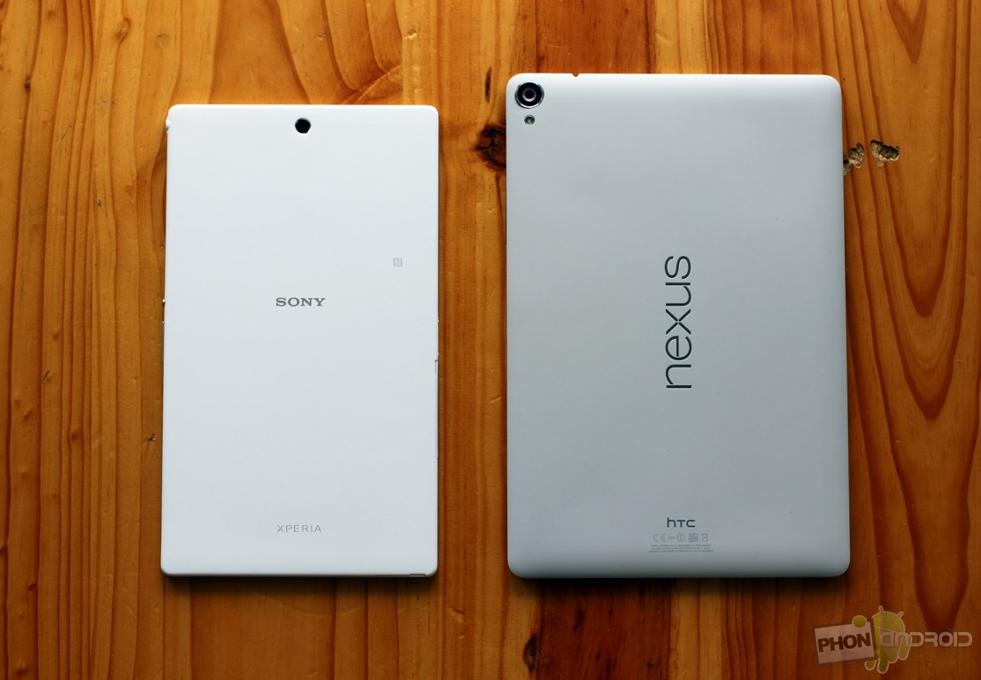 nexus 9 vs sony xperia z3 tablet compact
