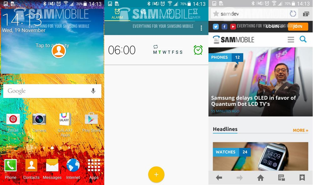 mise à jour Android 5.0 Lollipop Galaxy Note 3