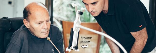 sesame smartphone handicapés