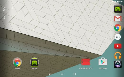 mise à jour Android Lollipop Nvidia Shield Tablet