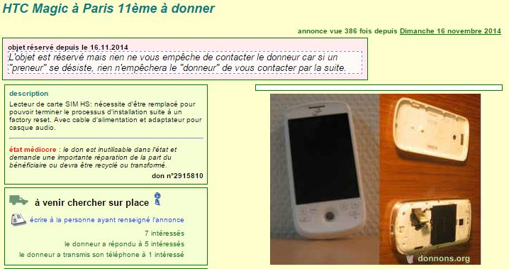 donner smartphone