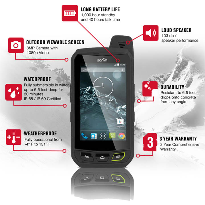 smartphone android indestructible sonim
