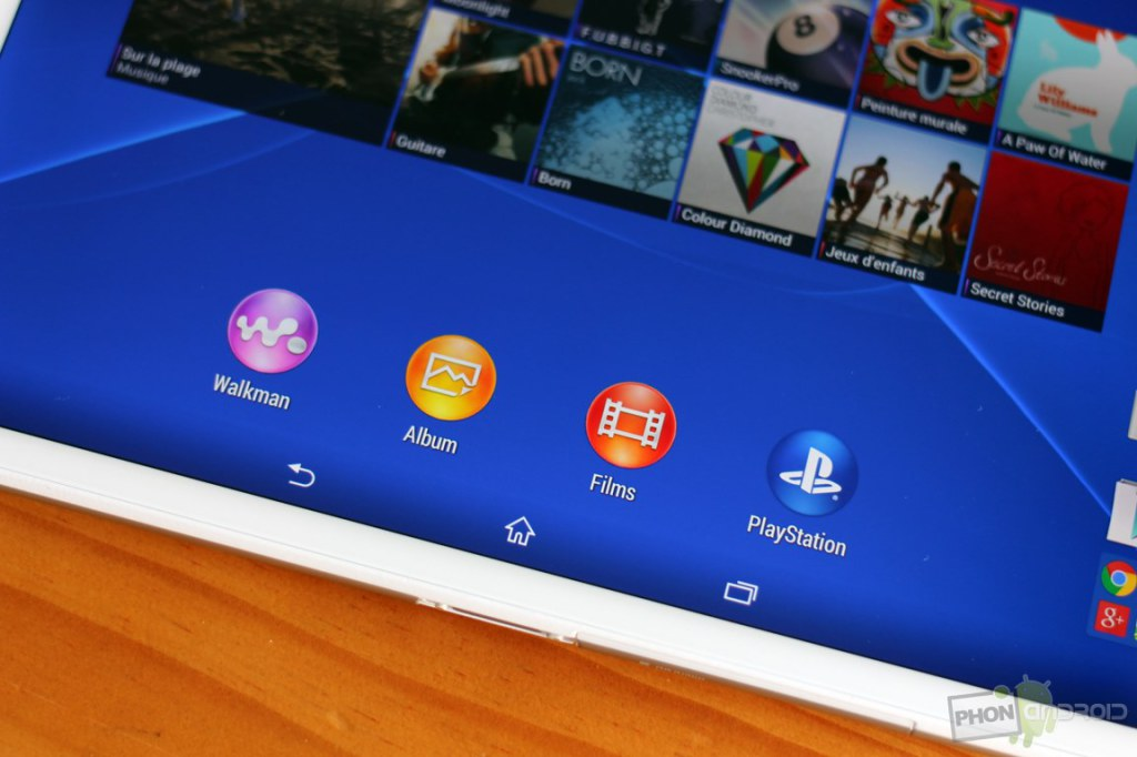 sony xperia z3 tablet compact touches tactile