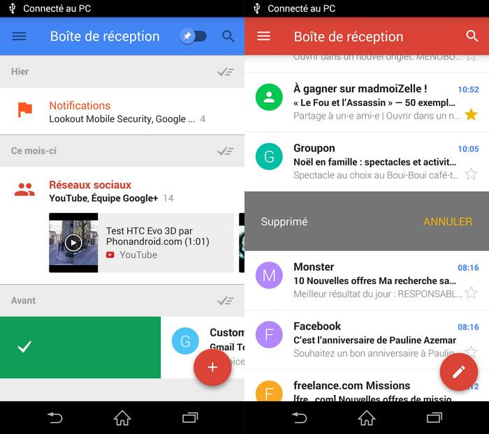 Google Inbox vs Gmail