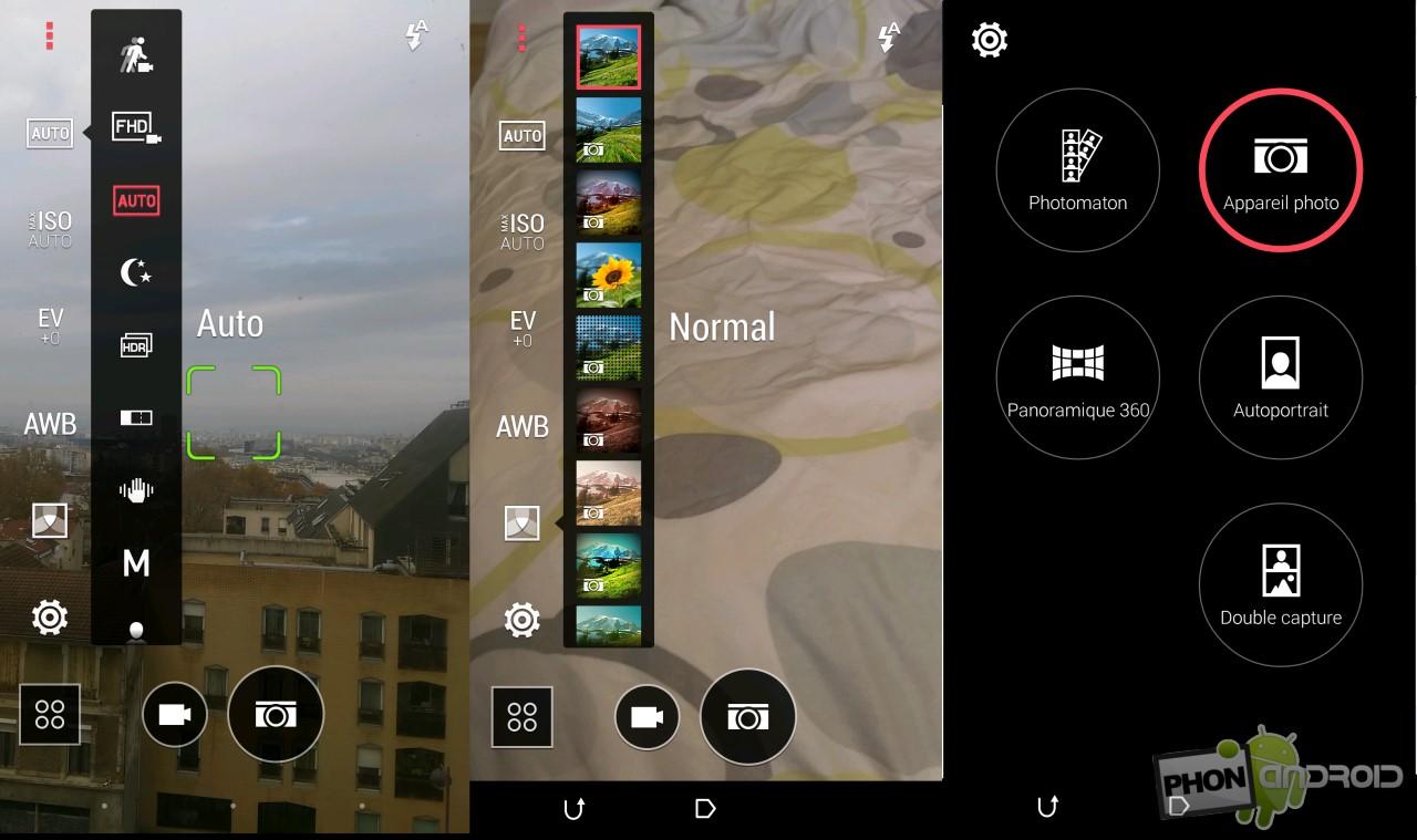 Test HTC Desire Eye appareil photo les modes