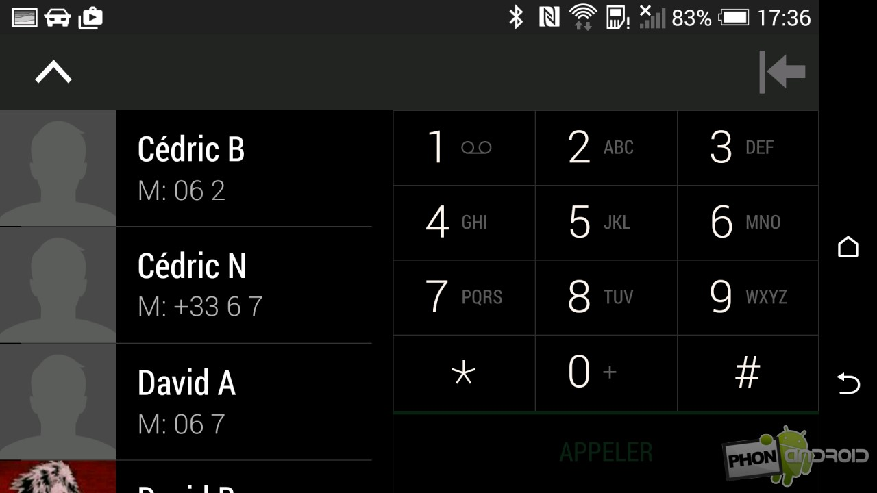 Test HTC Desire Eye mode Auto dialer