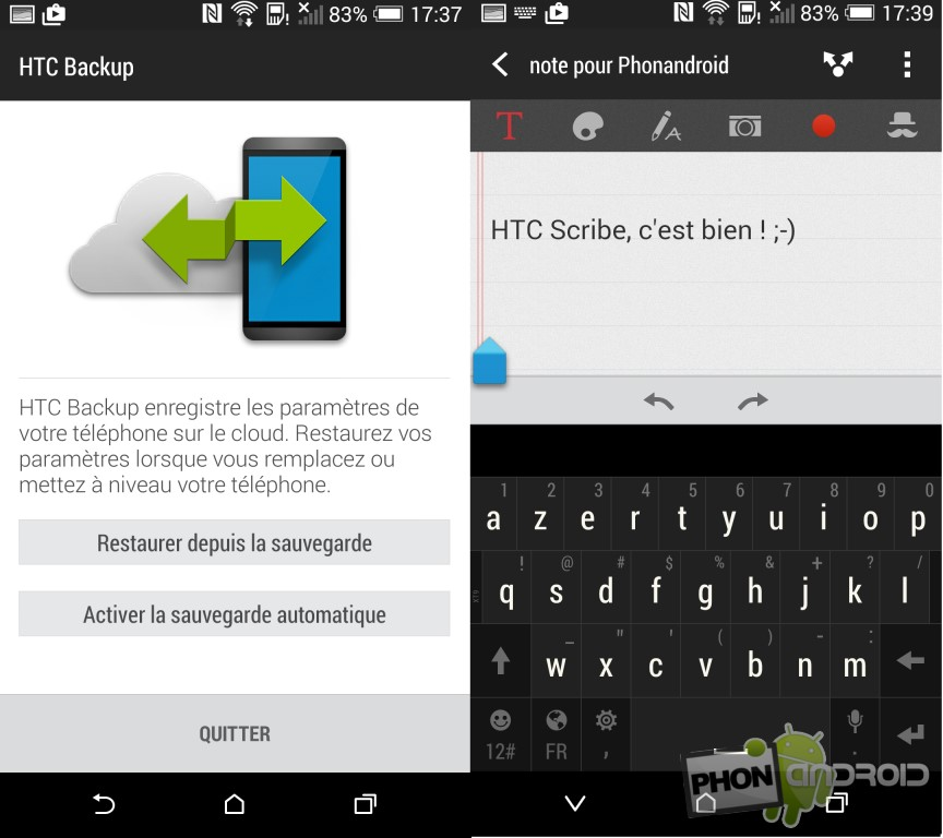 Test HTC Desire Eye Backup