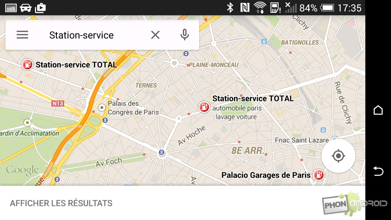Test HTC Desire Eye mode Auto Google Maps