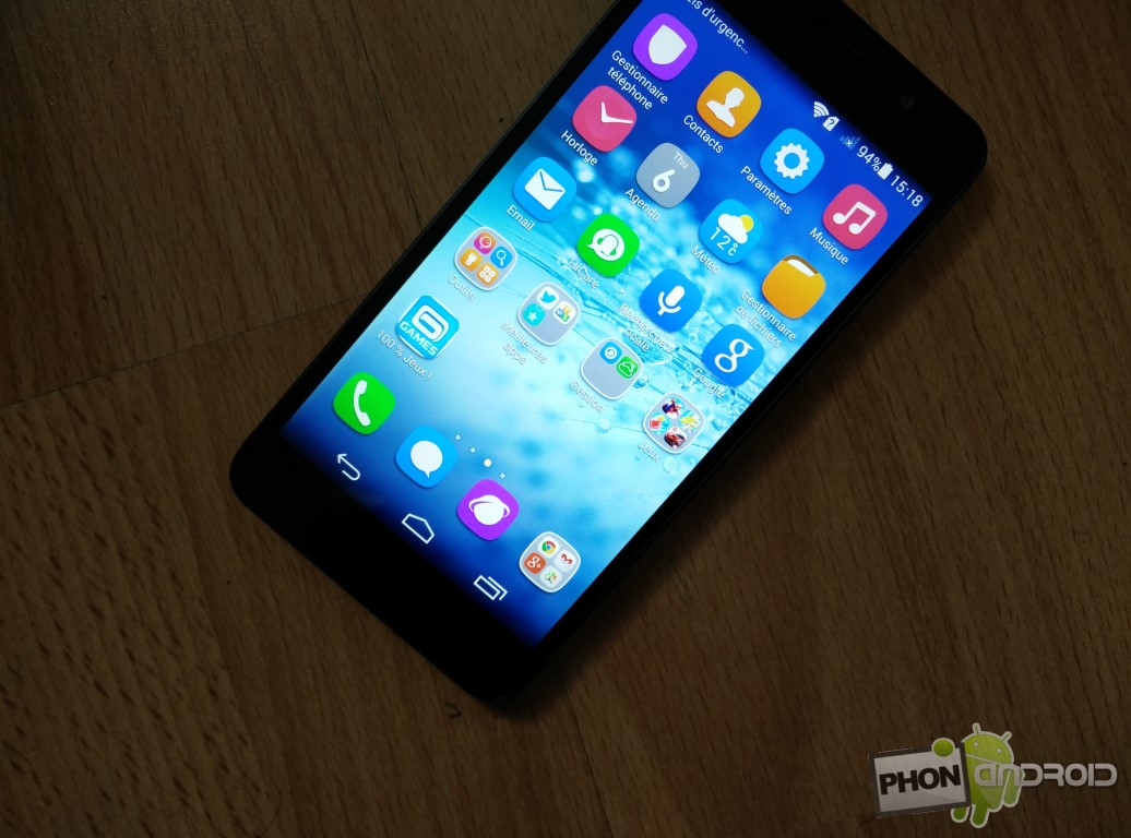 Huawei Honor 6 luminosité écran