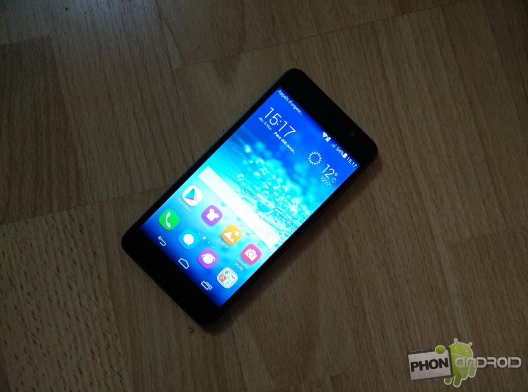 Huawei Honor 6 luminosité maximum