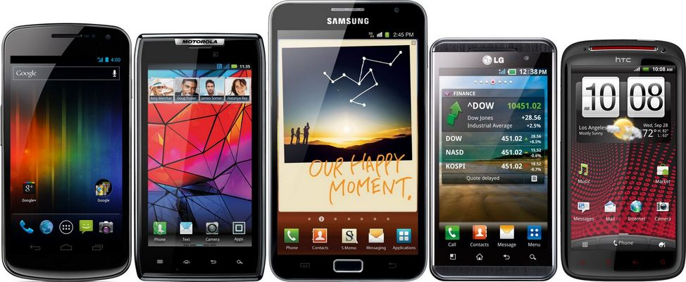 vieux smartphones Android