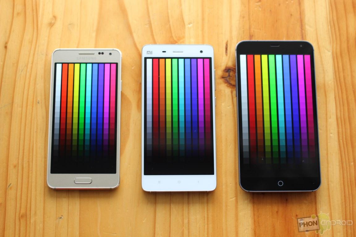 xiaomi mi4 ecran couleurs