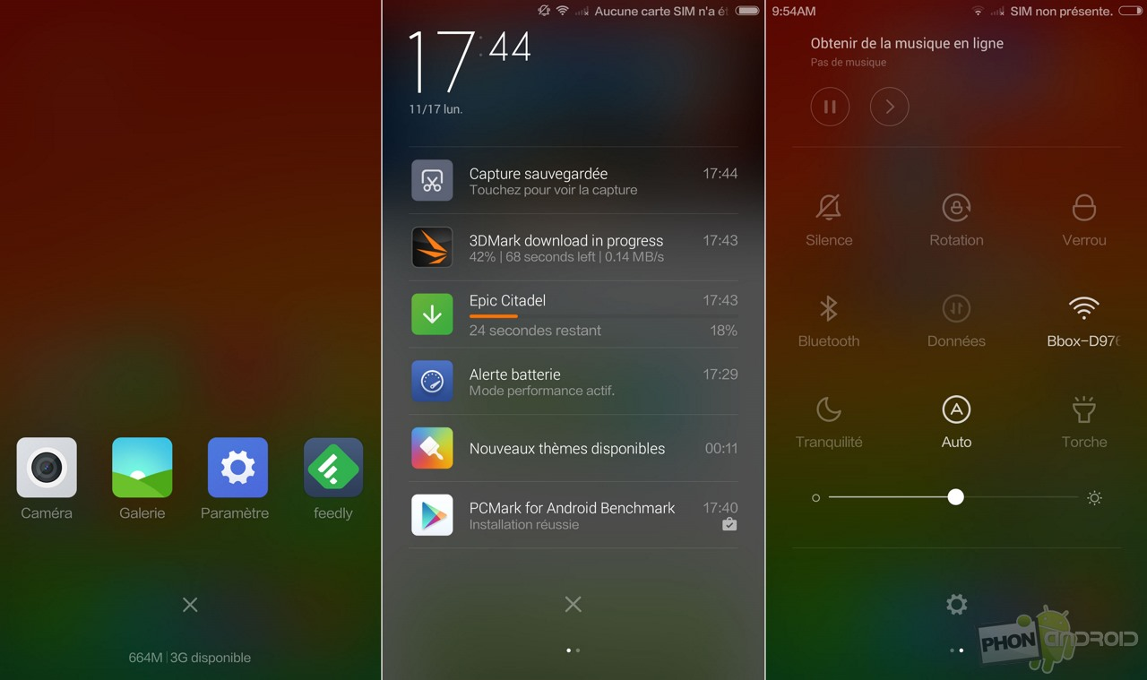 xiaomi mi4 notification multitache