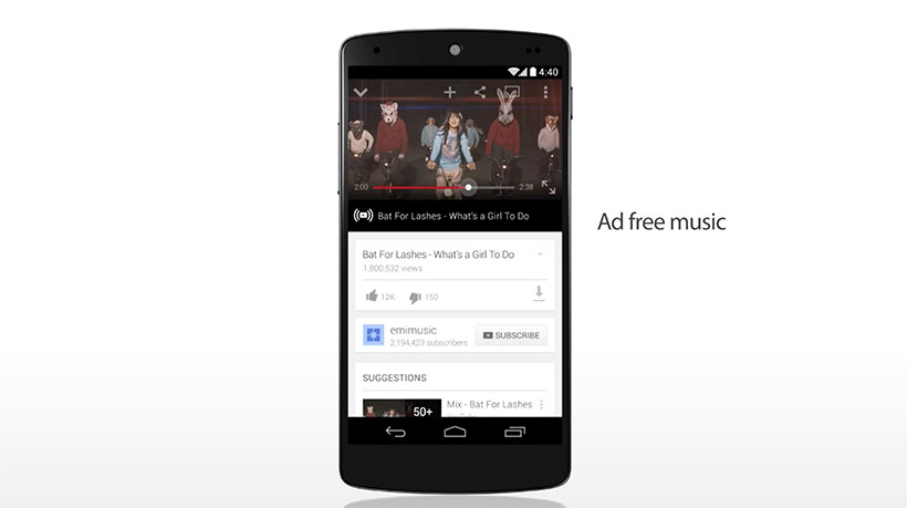 youtube music key officiel