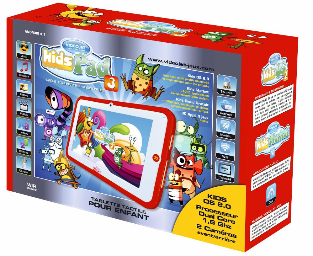 Videojet KidsPad 3, une belle tablette pour enfant