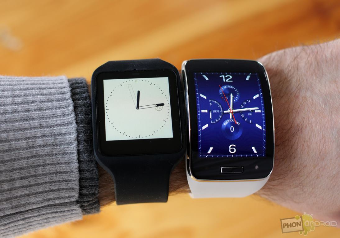 comparatif gear s sony smartwatch