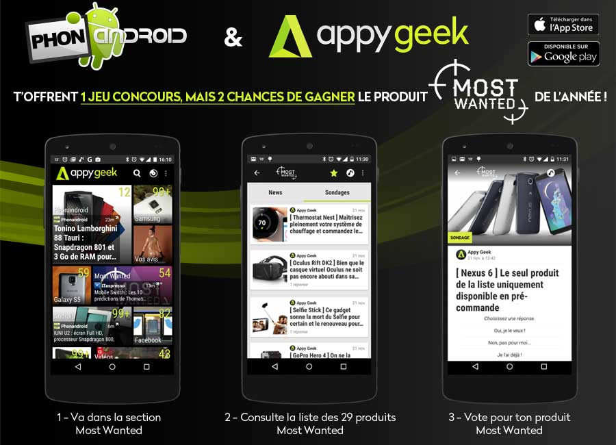 concours most wanted appy geek phonandroid