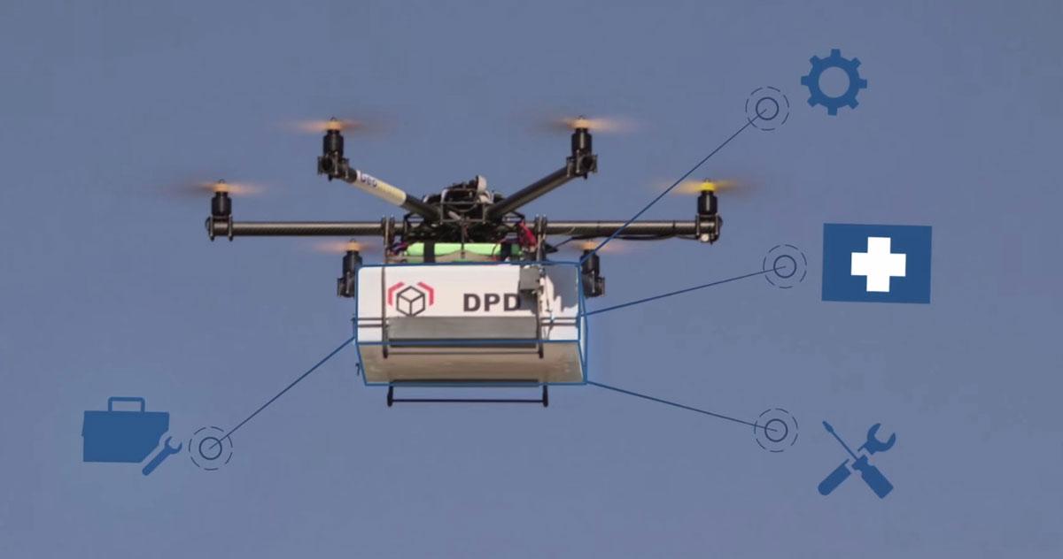 la poste est pr te pour la livraison par drones. Black Bedroom Furniture Sets. Home Design Ideas