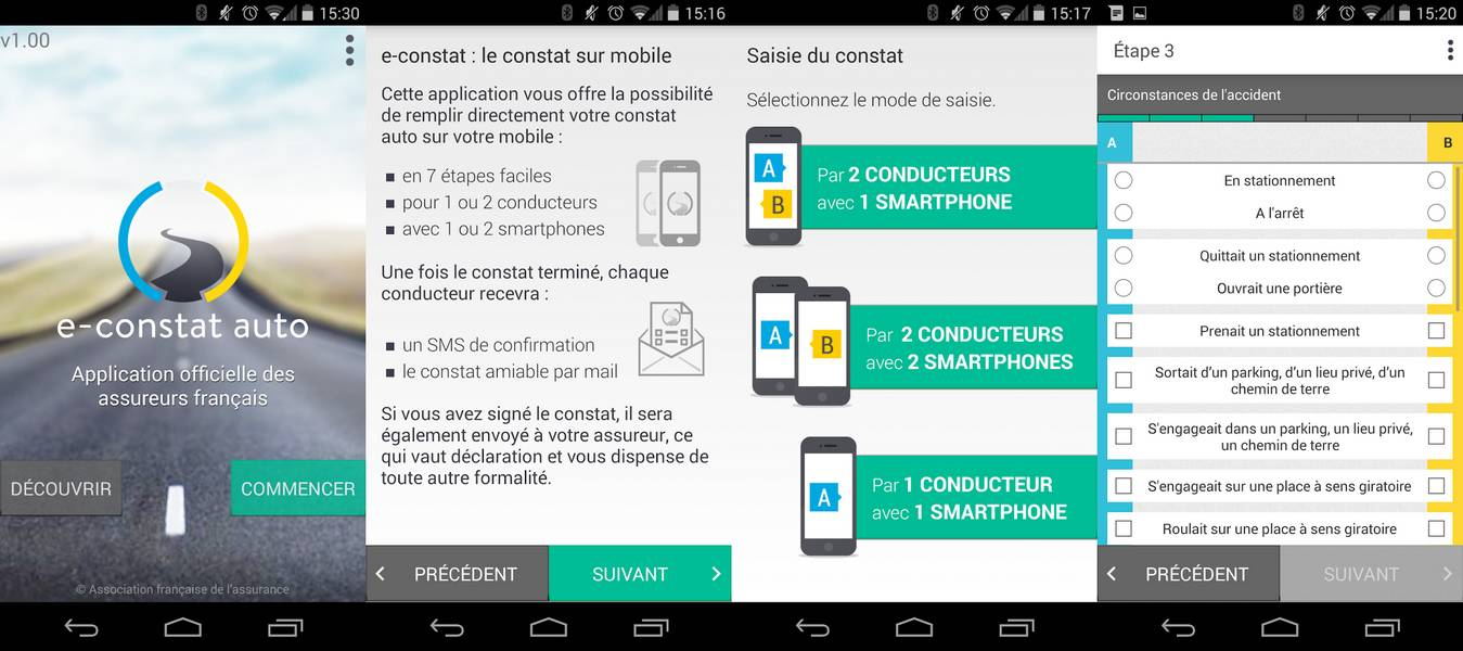 Images application E-Constat Auto